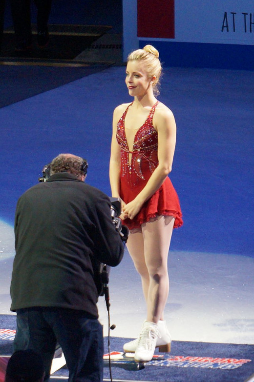 Two-time champ Ashley Wagner at the 2014 Nationals. I don't own this pic. No copyright infringement is intended. No edits made. Used via: https://creativecommons.org/licenses/by-sa/2.0/