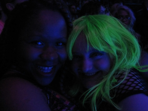 Yours truly and a friend I made at Lady Gaga's artRAVE.