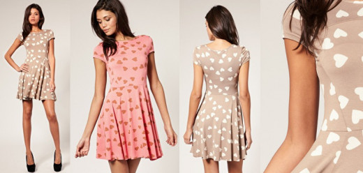 Heart print dresses