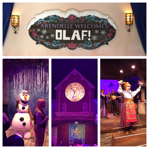 Inside of Olaf's Snow Fest