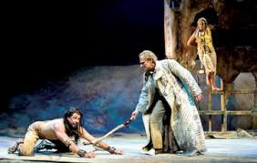 the series of treacheries and rebellions in the play the tempest Caliban (todd scofield) has a conversation with his imaginary friends in folger theatre's production of shakespeare's the tempest in 2007.