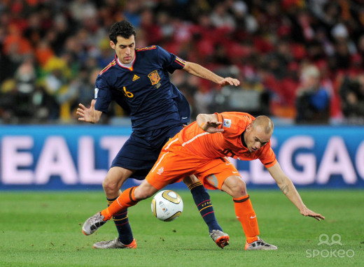 Busquets doing the dirty work in Spain's World Cup final win