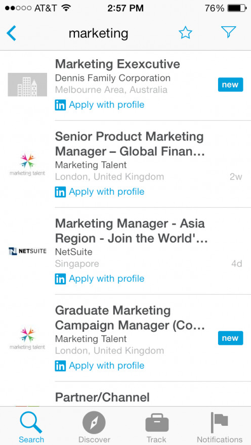 "Search for: ""Marketing"""