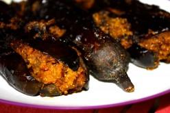 Marathi Bharli Vangi (Stuffed Eggplant Masala Fry)