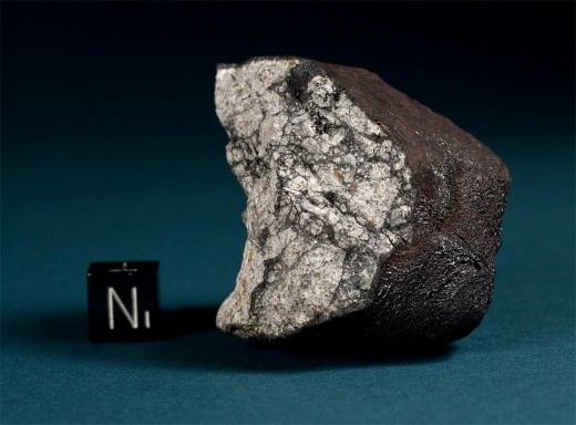 A chunk of the famous Chelyabinsk meteor. Thousands of people were injured after it exploded in the sky.