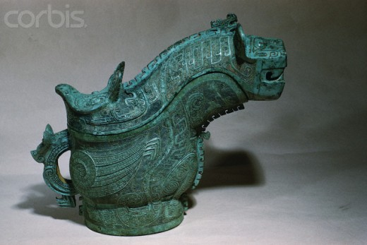 Shang Dynasty Bronze Ritual Wine-Pouring Vessel
