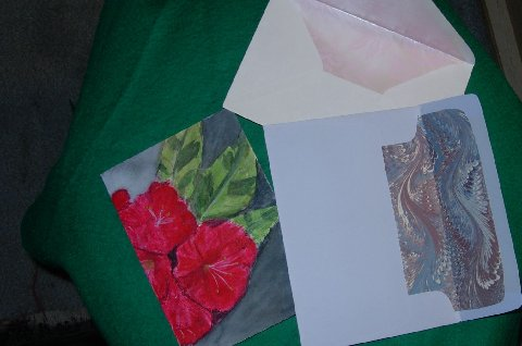 Handmade Card and lined envelopes
