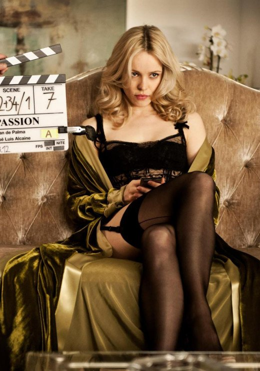 Rachel Mcadams crossed legs in lingerie