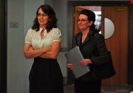 """Tina Fey and Megan Mullally in the third season of """"30 Rock."""""""