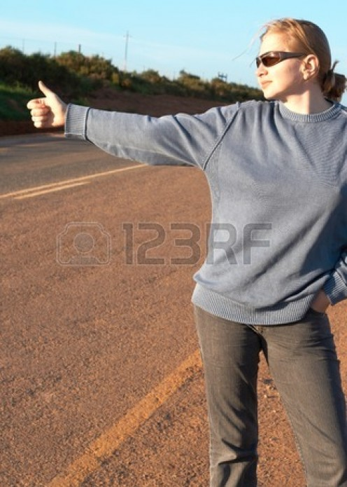 Beware of hitchhikers with sweatshirts