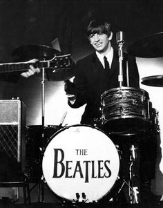 Ringo behind his famous Ludwig drum kit