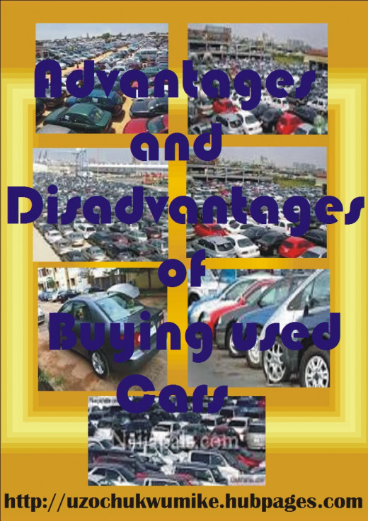 Disadvantages and advantages of buying used cars.
