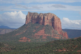 One of the many gorgeous red sandstone formations in Sedona, AZ.