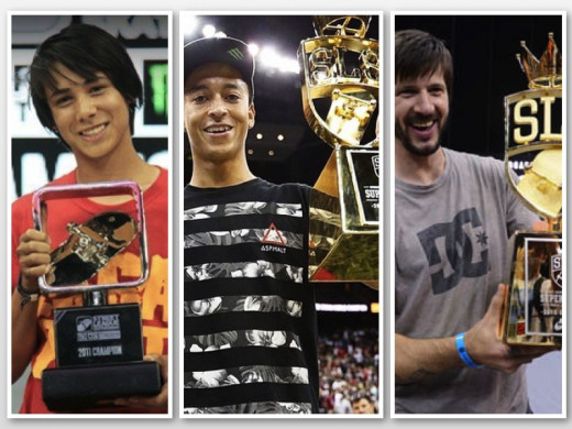 Street League Champions: Sean Malto, Nyjah Huston, Chris Cole