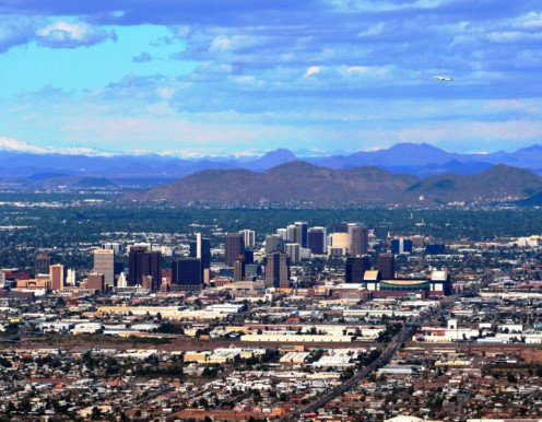 Phoenix, Arizona as seen from South Mountain.