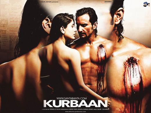 Kareena Kapoor and Saif Ali Khan in the 2009 movie Kurbaan.