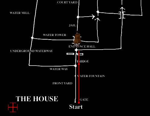 There's plenty of routes through the Curien Mansion.