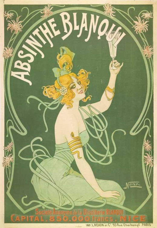 Vintage french poster advertising Absinthe