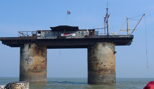 The real-life Sanctuary micro-nation of SEALAND