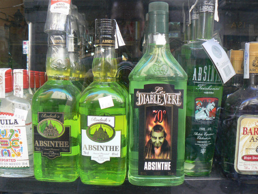 Some of the various brands of absinthe available in the US