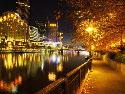 Southbank, Yarra River, and Flinders Walk, Melbourne, Victoria, Australia