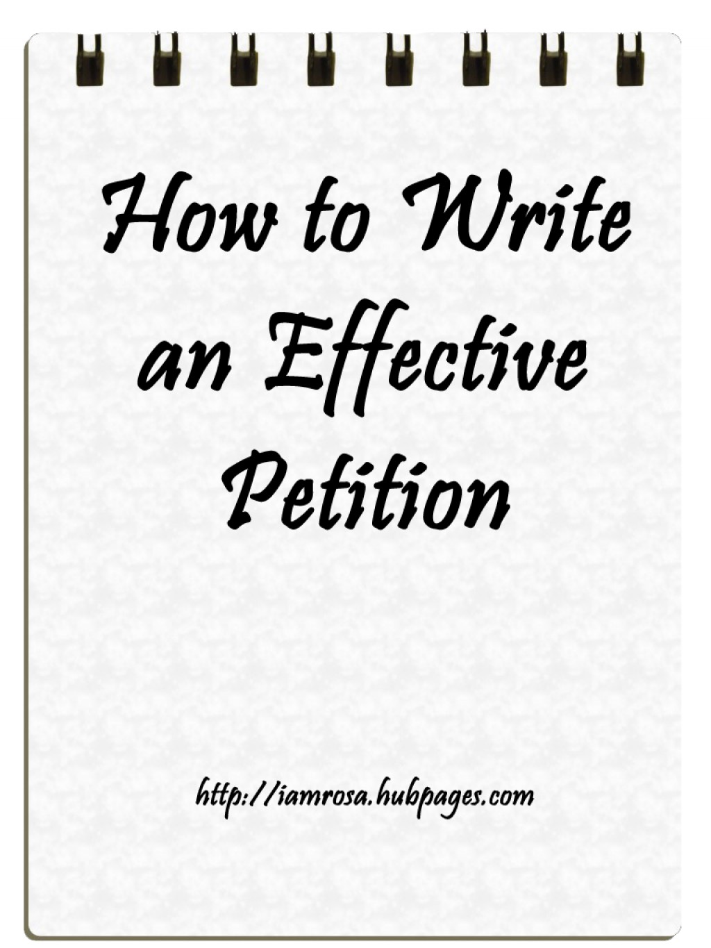 how to write petition