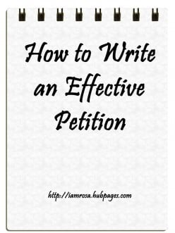 How to Write an Effective Petition