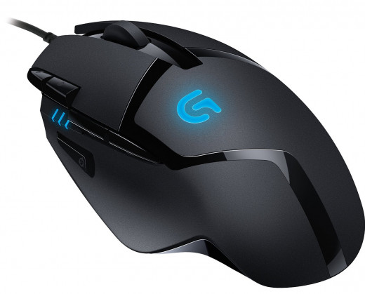 The G402 is said to be the world's fastest gaming mouse. Logitech claims that Fusion Engine technology and 1MS report rate enables tracking speeds of up to 10 meters/second (420 ips).