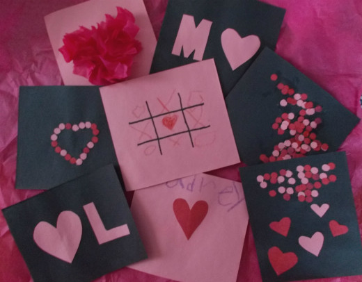 Kids can make valentines like these for their classmates.