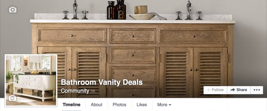 Stay on top of Bathroom Vanity Sales and Deals by following my page on Facebook.