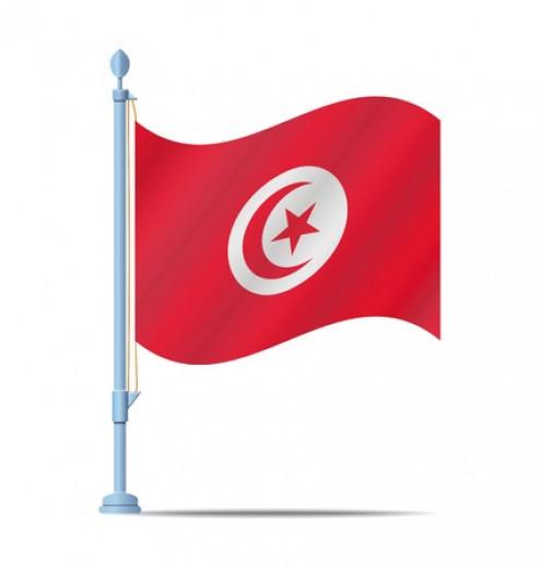 The Tunisian National Flag