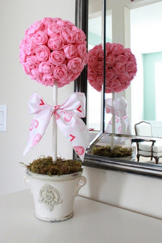 Artificial rose decoration