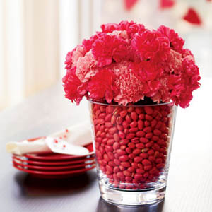 Flower and candy display