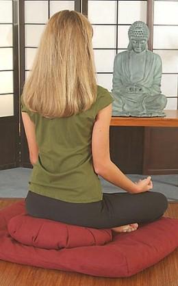 Buy Japanese Zafu Cushion For Meditation, Mind Clarity, And Zen