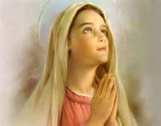 Mother Mary in Prayer