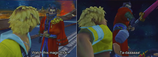 So that's why Auron's such a stiff.