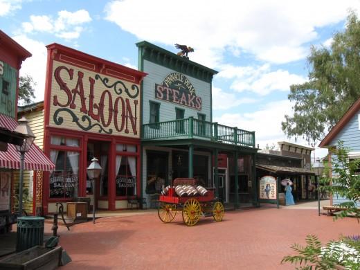 Pinnacle Peak Restaurant and Silver Dollar Saloon in Tucson, Arizona
