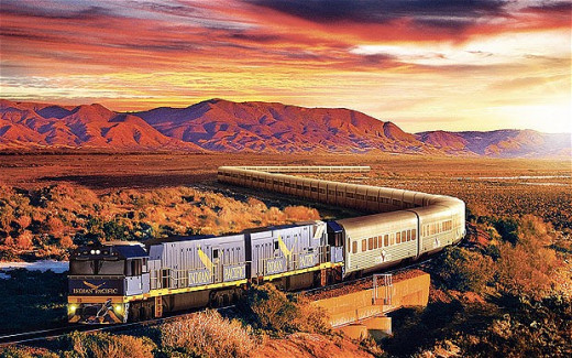 Australia's Indian Pacific train