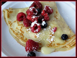 Lemon Curd Crepes with Grand Marnier Orange Sauce