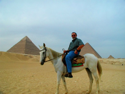 Ronald A Newcomb mounted up to see the pyramids