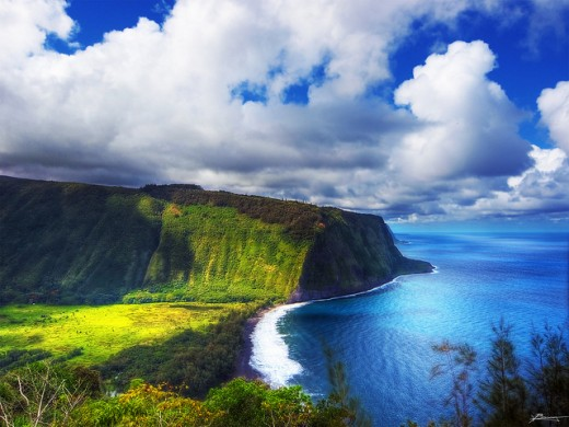 Landscape of beautiful Waipio valley, Big Island, Hawaii