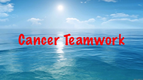 Teamwork is about coming together and showing support to assist others in their fight against cancer.
