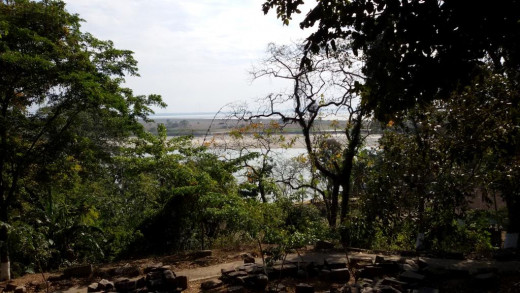 River Bramhaputra from Bamuni Hills