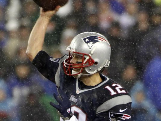 Hard to tell, but does it look like the ball is indented where Brady grabs it? Looks normal, but still, hard to tell