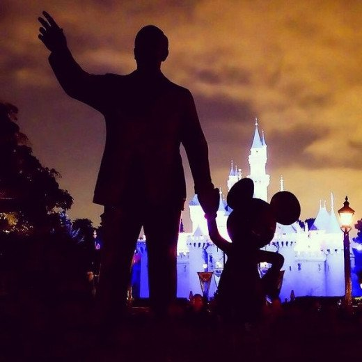 The original Partners statue at Disneyland has stood tall since 1993.