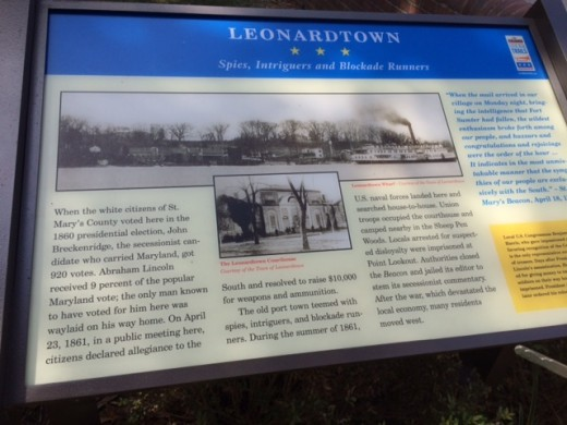A sign outside of the Courthouse in Leonardtown detailing some of its history in voting.