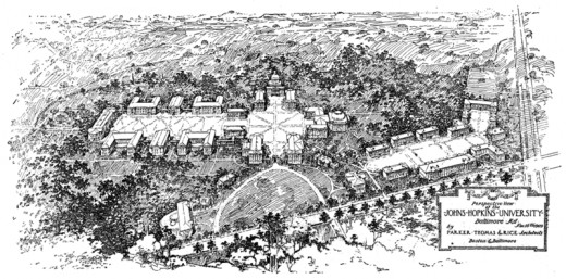 Plans for the school and campus in 1910