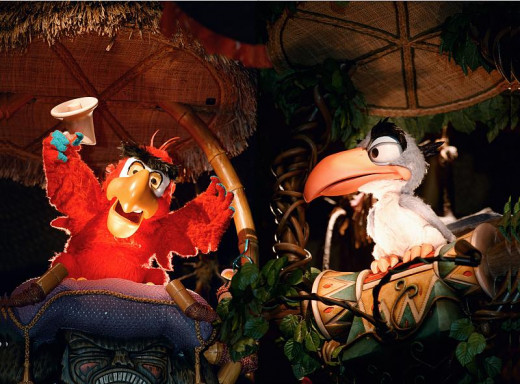 Iago and Zazu once guided guests through a different kind of Enchanted Tiki Room.