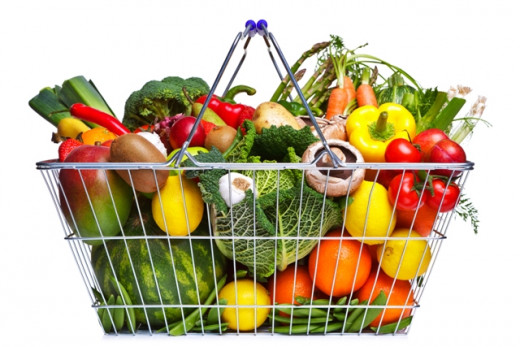 Shopping Basket with Healthy Vegetables