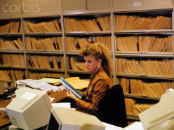 An assistant manager's job is not glamorous. This assistant manager is swamped with research work